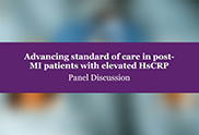 Advancing standard of care in post-MI patients with elevated HsCRP