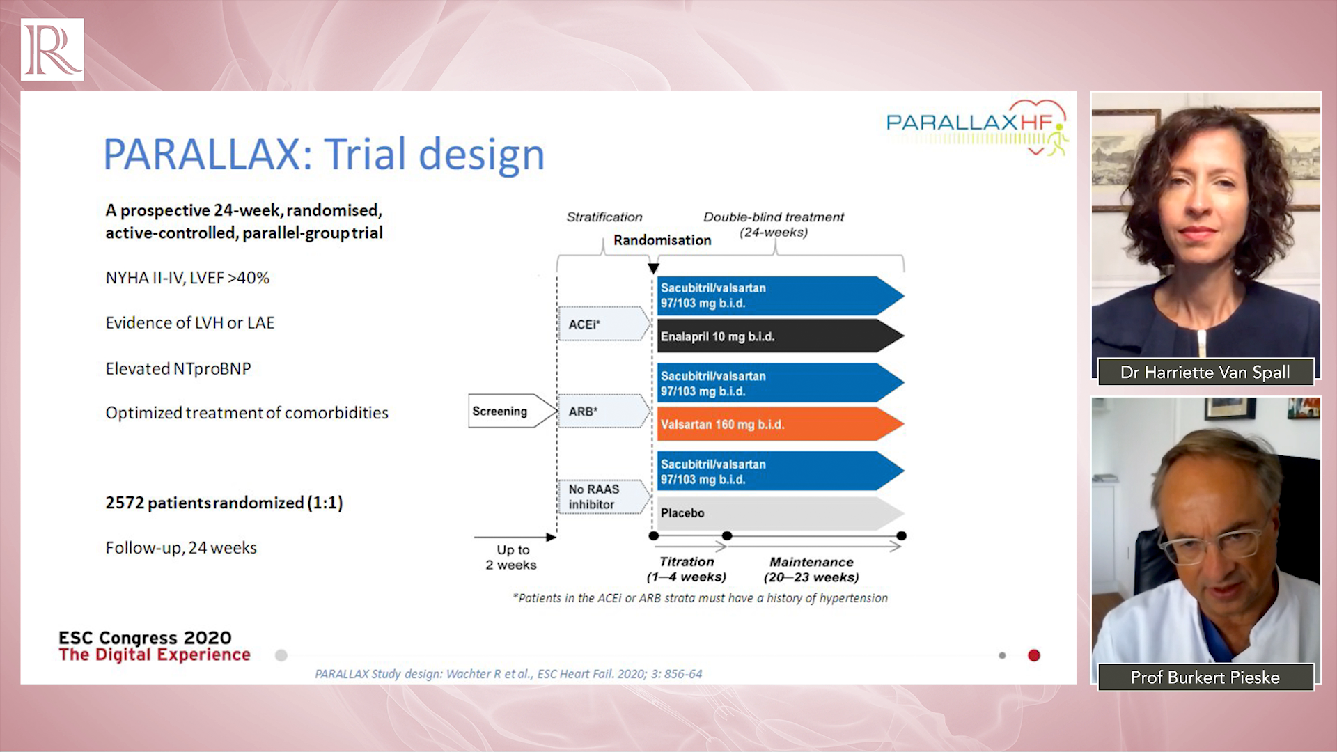 ESC 2020 Discussion: The PARALLAX Trial — Prof Burkert Pieske & Dr Harriette Van Spall