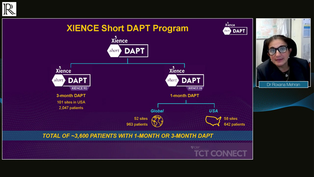 TCT Connect 2020: The XIENCE 90/28 Trials — Dr Roxana Mehran