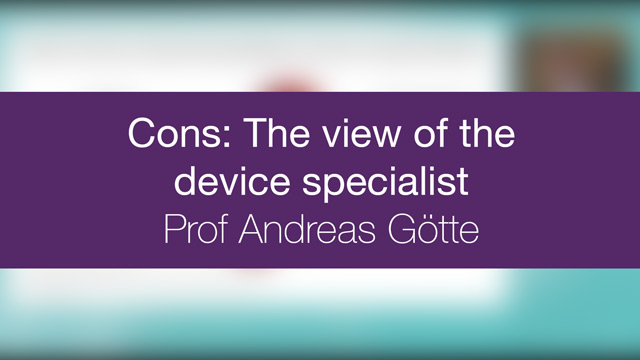 Cons : The view of the HF specialist
