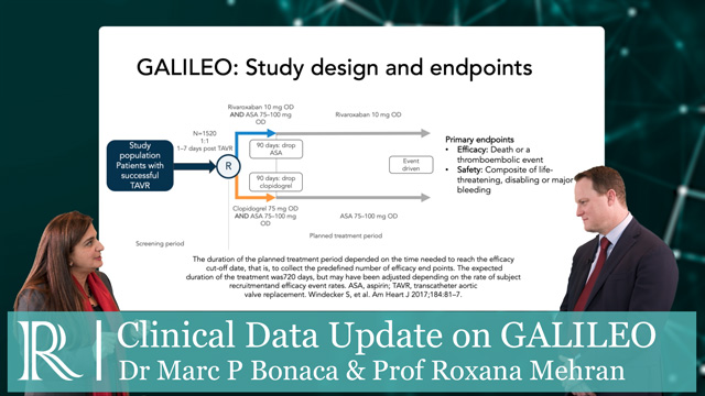 AHA 2019: Clinical Data Update On GALILEO- Dr Marc Bonaca & Prof Roxana Mehran