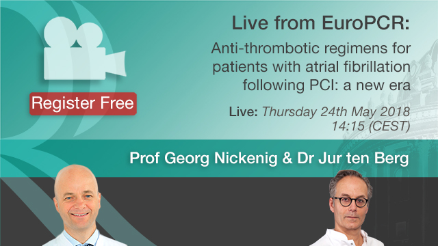Anti-thrombotic regimens for patients with Atrial fibrillation following PCI - Prof. Georg Nickenig & Dr Jur ten Berg
