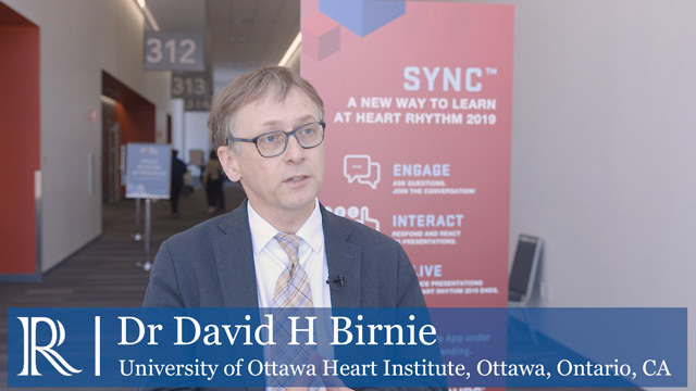 HRS 2019: Arrhythmia Device Infection (PADIT) - Dr David Birnie