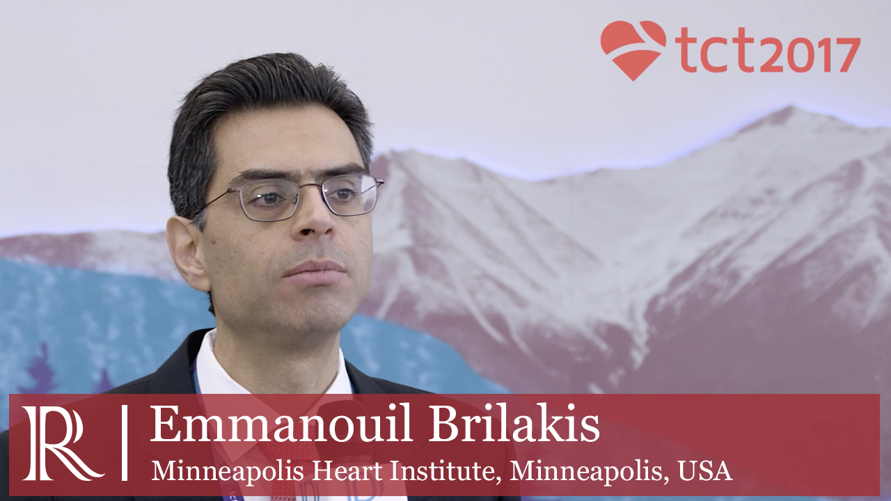 Crossing Coronary Chronic Total Occlusion at TCT 2017 interview Emmanouil Brilakis