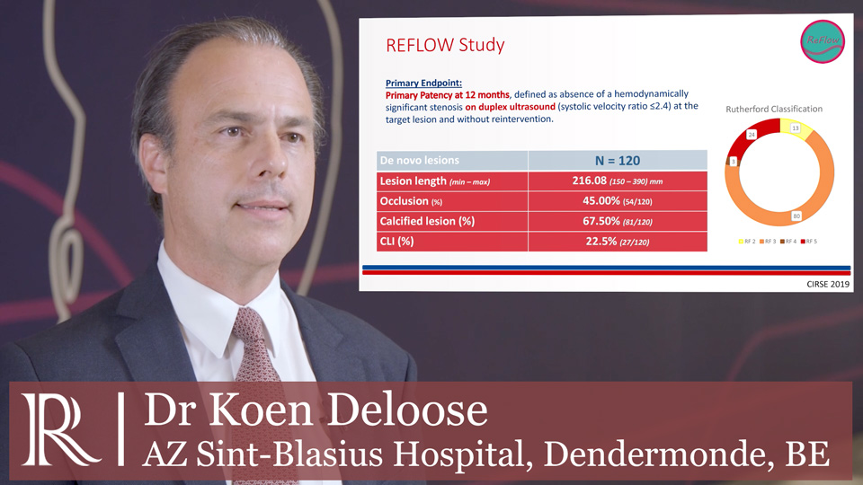 CIRSE 2019: Final results from REFLOW - Dr Koen Deloose