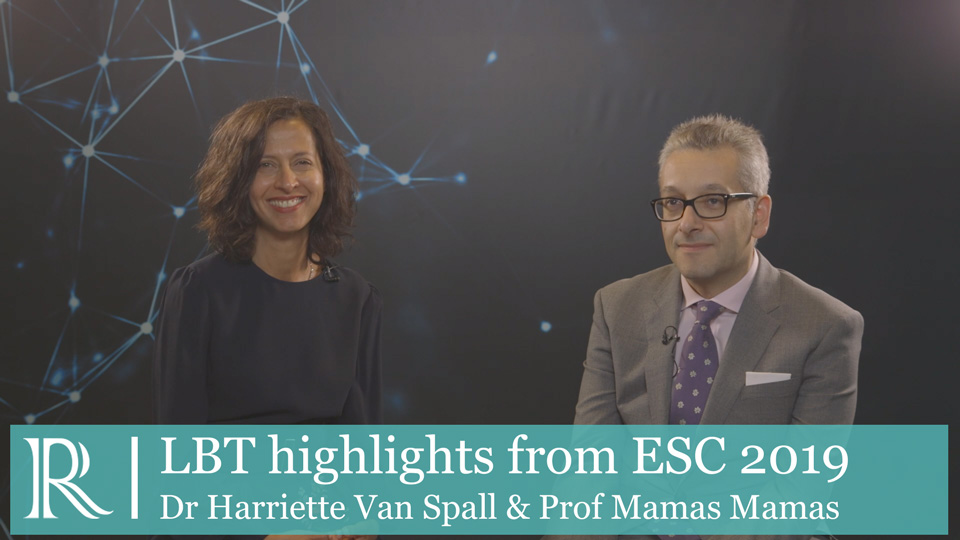 ESC 2019 - Late-breaking trial highlights - Dr Harriett Van Spall and Prof Mamas Mamas