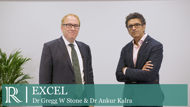 TCT 2019 : EXCEL - Dr Gregg W Stone and Dr Ankur Kalra