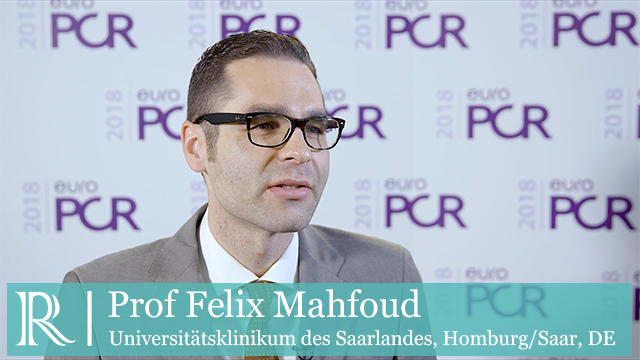 EuroPCR 2018: PCR Statement On Renal Denervation-Based Therapies For Hypertension - Prof Felix Mahfoud