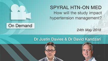 EuroPCR 2018: SPYRAL HTN-ON MED - Justin Davies, David Kandzari