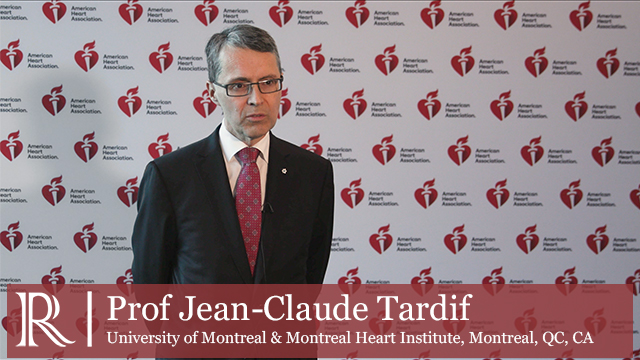 AHA 2019 - Results of the COLCOT Trial - Prof Jean-Claude Tardif