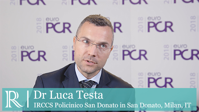 EuroPCR 2018: Cerebral Protection During TAVR - Dr Luca Testa