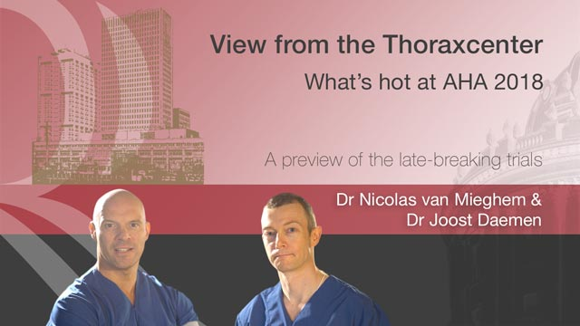 View from the Thoraxcenter Watch Dr Nicolas Van Mieghem and Dr Joost Daemen