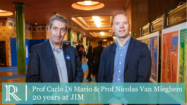 20 years at JIM — Prof Di Mario & Prof Van Mieghem