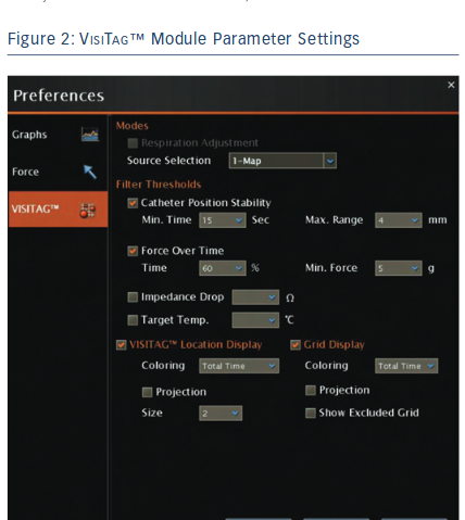 VisiTag™ Module Parameter Settings
