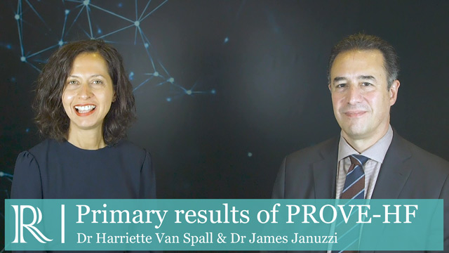 ESC 2019: Primary results of the PROVE-HF study - Drs Harriette Van Spall and James Januzzi
