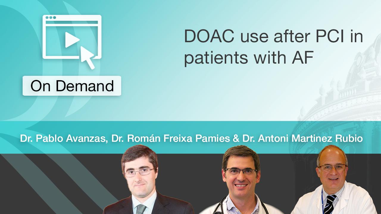 Tratamiento con ACOD en pacientes con FA post-ICP