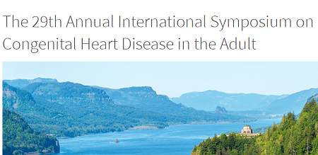 29th Annual International Symposium on Congenital Heart Disease in the Adult 2019