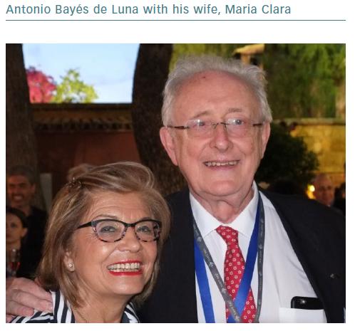 Antonio Bayes de Luna with his wife