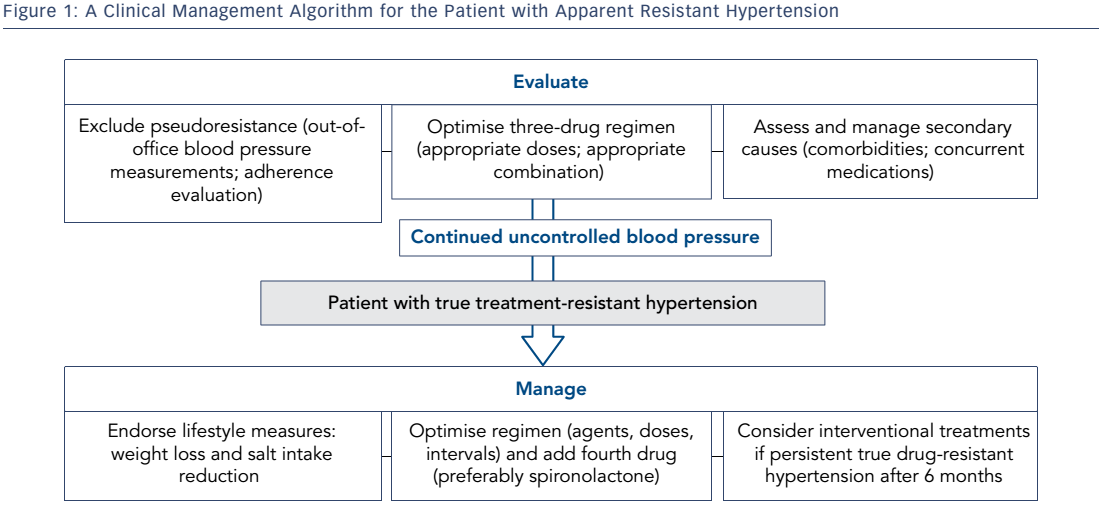 Figure 1: A Clinical Management Algorithm for the Patient with Apparent Resistant Hypertension
