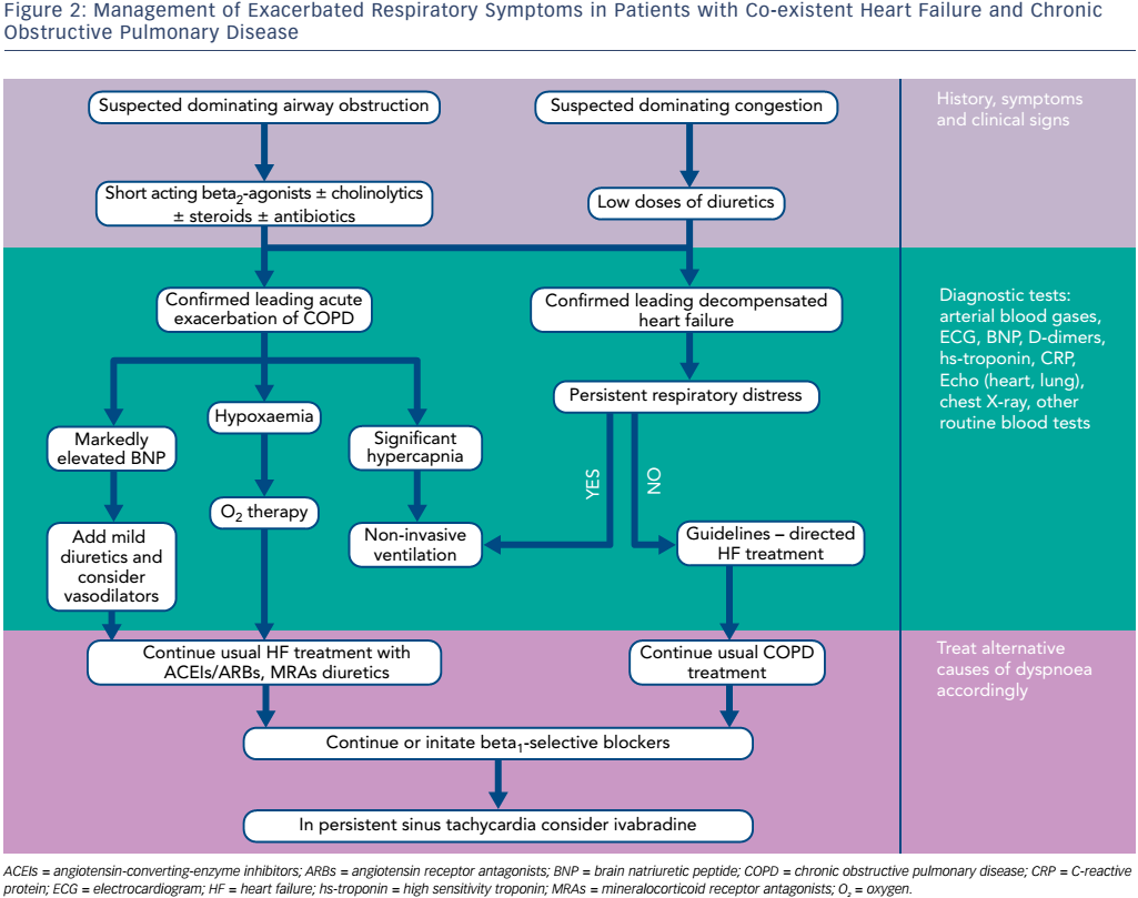 Figure 2: Management of Exacerbated Respiratory Symptoms in Patients with Co-existent Heart Failure and Chronic Obstructive Pulmonary Disease