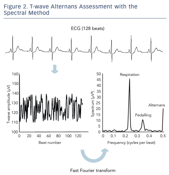 Figure 2. T-wave Alternans Assessment with the Spectral Method