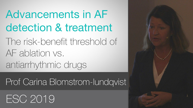 The risk-benefit threshold of AF ablation vs. AAD therapy