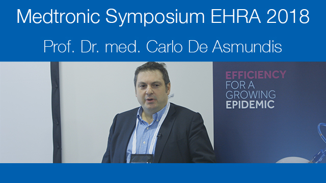 Medtronic sponsored sessions at EHRA 2018 - Prof. Dr. Med. Carlo De Asmundis