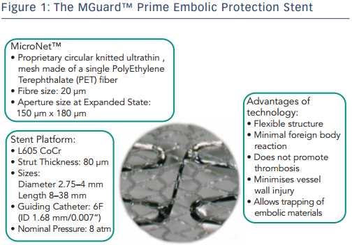 The MGuard™ Prime Embolic Protection Stent