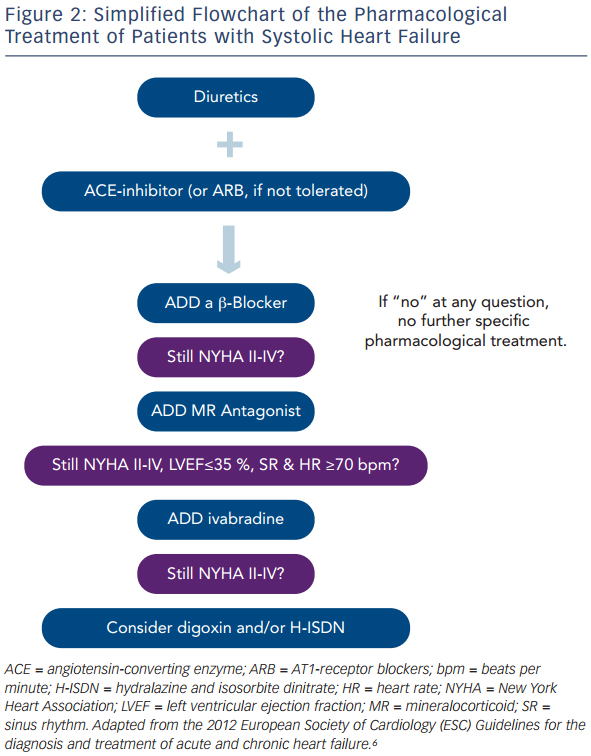 Flowchart of the Pharmacological Treatment of Patients with Systolic Heart Failure
