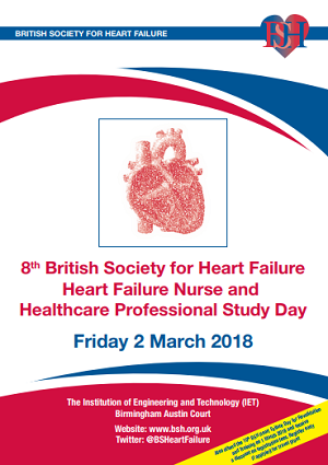 BSH 8th Heart Failure Nurse and Healthcare Professional Study Day 2018