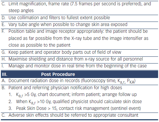 Radiation Dose Management in Percutaneous Coronary Intervention