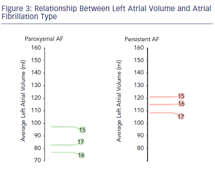 Relationship Between Left Atrial Volume and Atrial Fibrillation Type