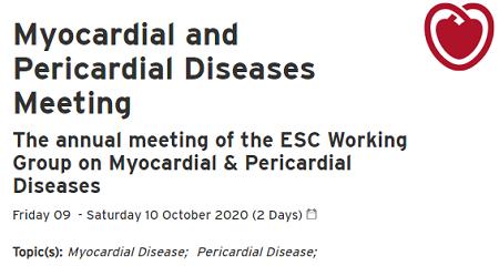 Myocardial & Pericardial Diseases 2020