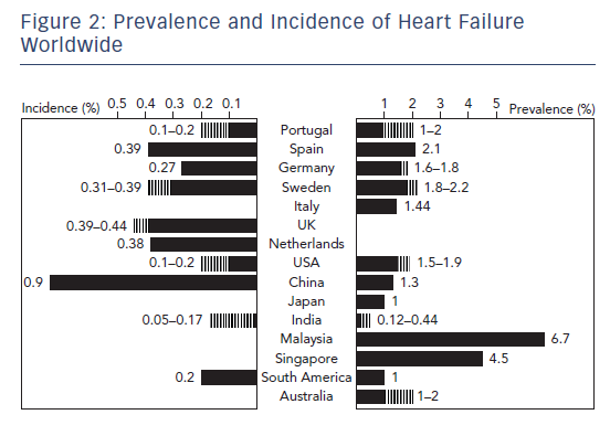 Figure 2: Prevalence and Incidence of Heart Failure Worldwide