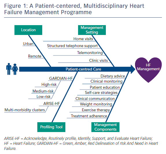 Figure 1: A Patient-centered, Multidisciplinary Heart Failure Management Programme