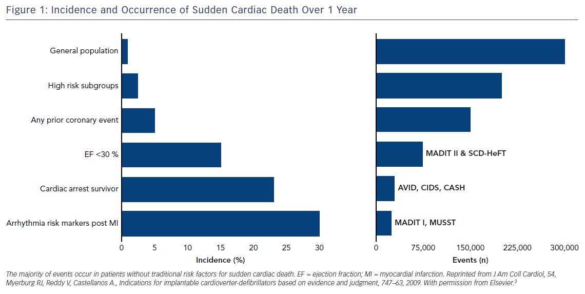 Figure 1: Incidence and Occurrence of Sudden Cardiac Death Over 1 Year