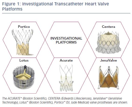 Figure 1: Investigational Transcatheter Heart Valve Platforms