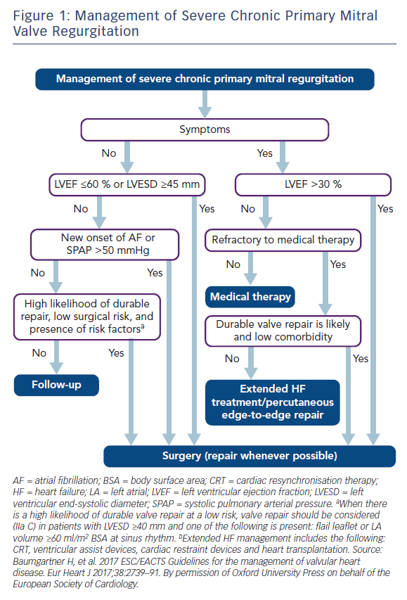 Figure 1: Management of Severe Chronic Primary Mitral Valve Regurgitation