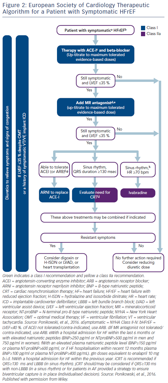 Figure 2: European Society of Cardiology Therapeutic Algorithm for a Patient with Symptomatic HFrEF