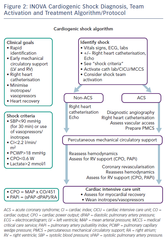 Figure 2: INOVA Cardiogenic Shock Diagnosis, Team Activation and Treatment Algorithm/Protocol