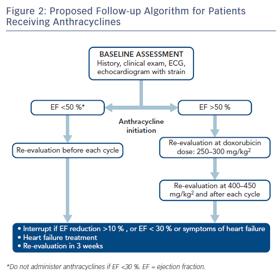Figure 2: Proposed Follow-up Algorithm for Patients Receiving Anthracyclines