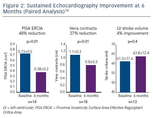 Figure 2: Sustained Echocardiography Improvement at 6 Months (Paired Analysis)