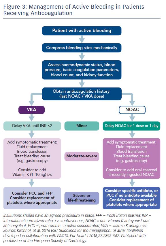 Figure 3: Management of Active Bleeding in Patients Receiving Anticoagulation