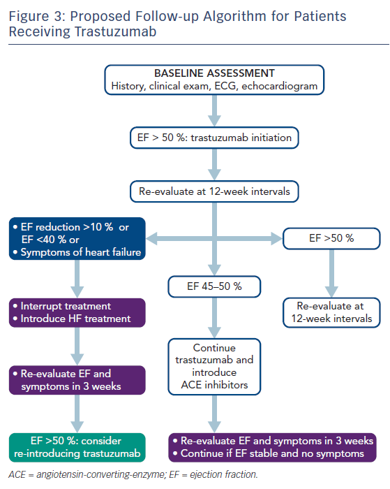 Figure 3: Proposed Follow-up Algorithm for Patients Receiving Trastuzumab