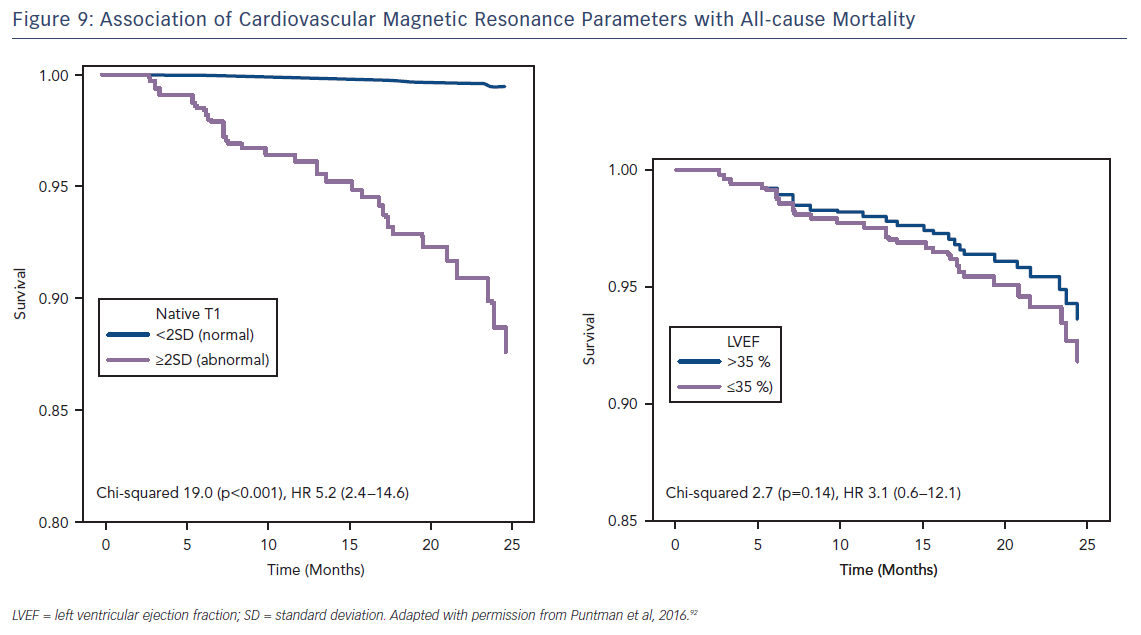 Figure 9: Association of Cardiovascular Magnetic Resonance Parameters with All-cause Mortality