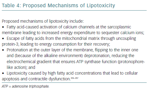 Proposed Mechanisms Of Lipotoxicity