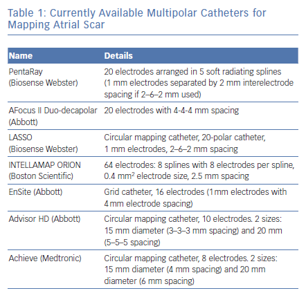 Currently Available Multipolar Catheters
