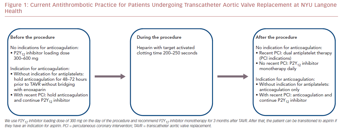Figure 1: Current Antithrombotic Practice for Patients Undergoing Transcatheter