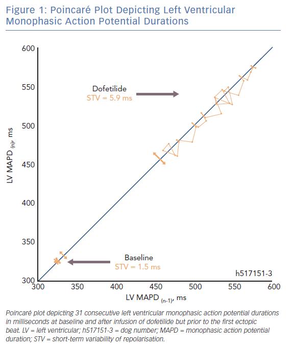 Poincaré Plot Depicting Left Ventricular Monophasic Action Potential Durations