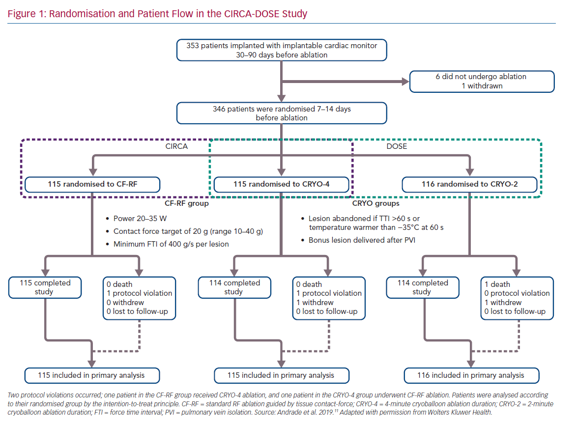Randomisation and Patient Flow in the CIRCA-DOSE Study